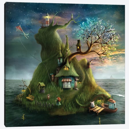 Våren Canvas Print #AJA37} by Alexander Jansson Canvas Art