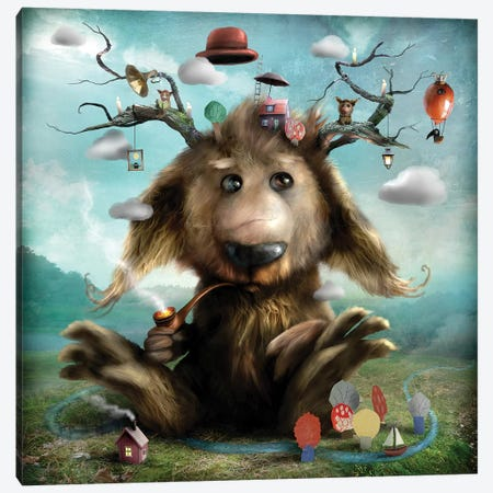Archie Canvas Print #AJA3} by Alexander Jansson Canvas Art Print