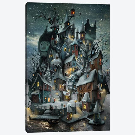 Willoville Isle Canvas Print #AJA42} by Alexander Jansson Canvas Art