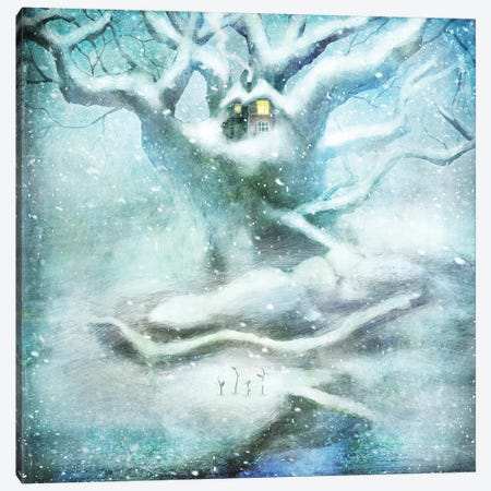 Winter Sprouts Canvas Print #AJA43} by Alexander Jansson Canvas Artwork