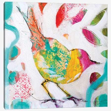 Petite Bird IV Canvas Print #AJB11} by Amanda J. Brooks Canvas Art