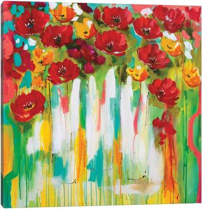 Poppies Glowing Canvas Art Print