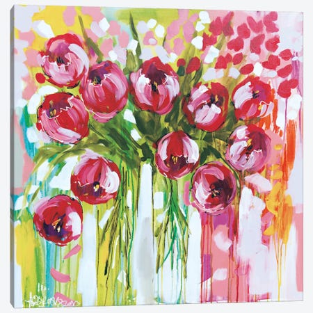 Razzle Dazzle Tulips Canvas Print #AJB13} by Amanda J. Brooks Canvas Art