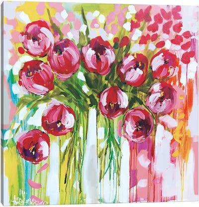 Razzle Dazzle Tulips Canvas Art Print