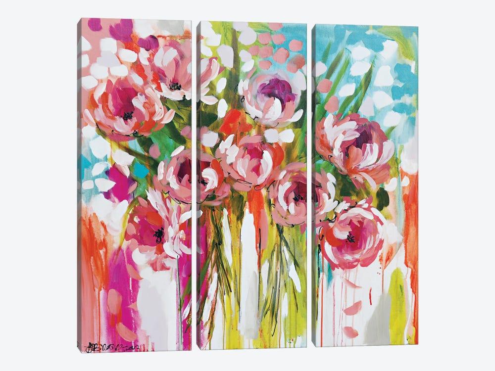 Sunburst Symphony by Amanda J. Brooks 3-piece Canvas Print