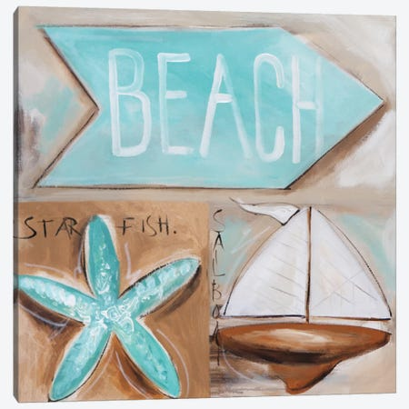 Where's The Beach? Canvas Print #AJB19} by Amanda J. Brooks Canvas Wall Art