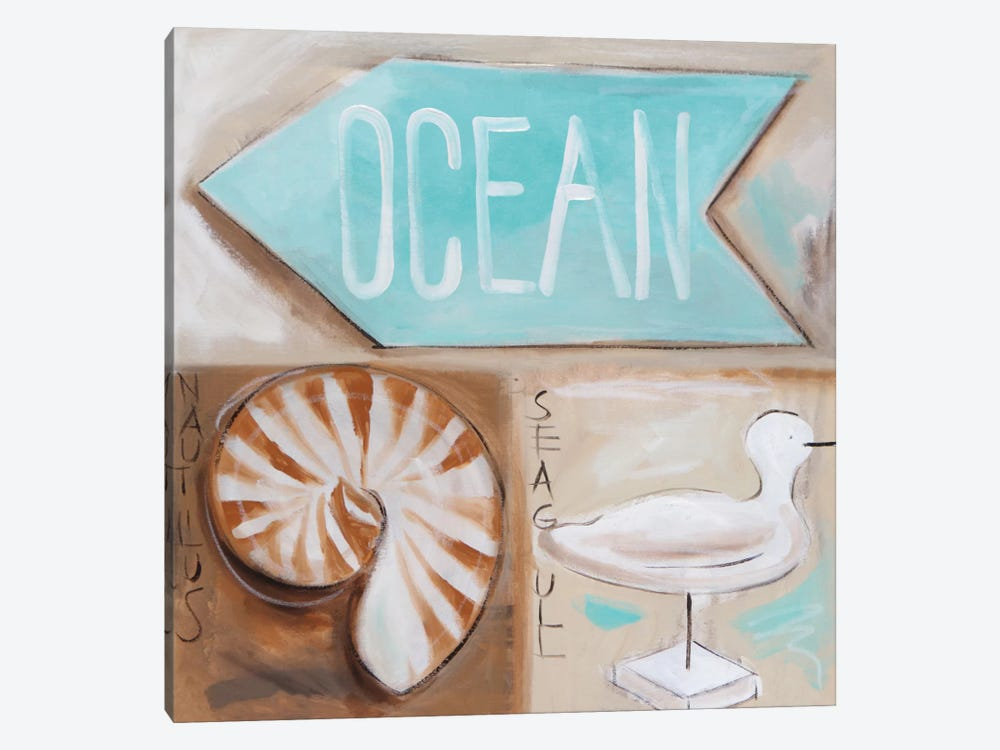 Where's The Ocean? by Amanda J. Brooks 1-piece Canvas Wall Art
