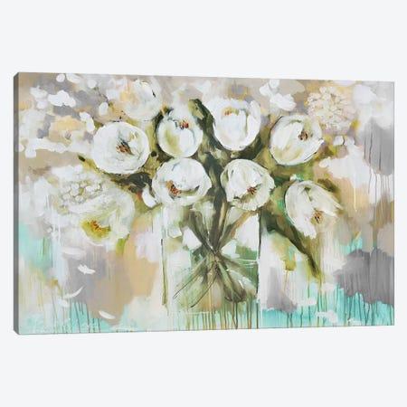 Pure Blanc Tulipa Canvas Print #AJB24} by Amanda J. Brooks Canvas Wall Art