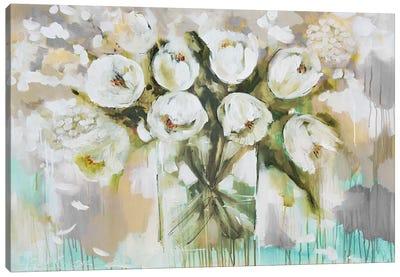 Pure Blanc Tulipa Canvas Art Print