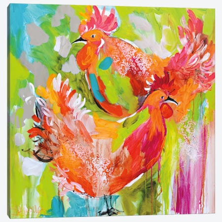 You Ruffle My Feathers 3-Piece Canvas #AJB28} by Amanda J. Brooks Canvas Print