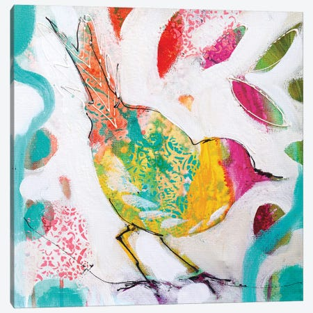 Petite Bird IV Canvas Print #AJB32} by Amanda J. Brooks Canvas Wall Art