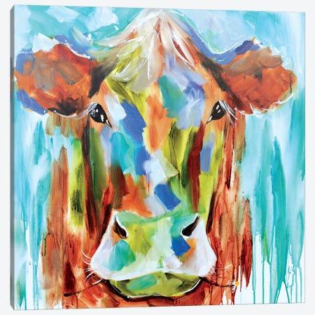 Misty Pasture Canvas Print #AJB7} by Amanda J. Brooks Canvas Art Print