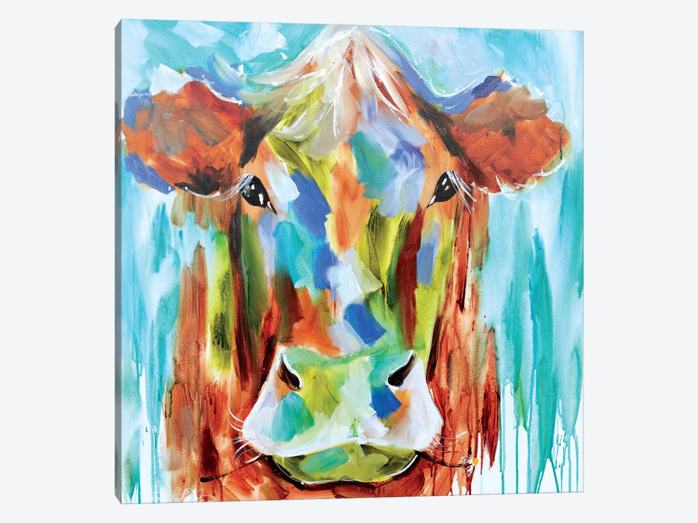 Misty Pasture by Amanda J. Brooks 1-piece Canvas Art