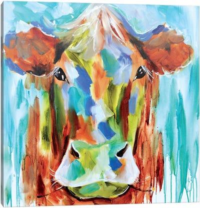 Misty Pasture Canvas Art Print