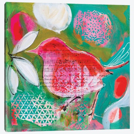 Petite Bird I 3-Piece Canvas #AJB8} by Amanda J. Brooks Canvas Art