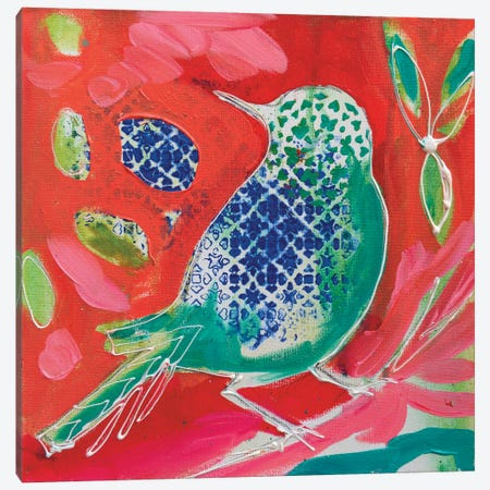 Petite Bird II 3-Piece Canvas #AJB9} by Amanda J. Brooks Canvas Art
