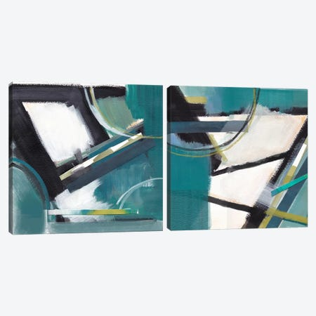 De-Construction Diptych Canvas Print Set #AJE2HSET001} by Alison Jerry Canvas Print