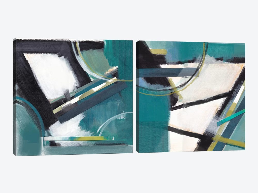 De-Construction Diptych by Alison Jerry 2-piece Canvas Art Print