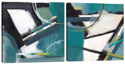 De-Construction Diptych Canvas Art Print