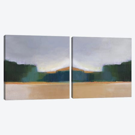 Solitude Diptych Canvas Print Set #AJE2HSET002} by Alison Jerry Canvas Print