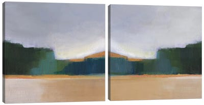 Solitude Diptych Canvas Art Print