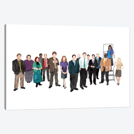 The Office Canvas Print #AJF13} by AJ Filopoulos Canvas Artwork