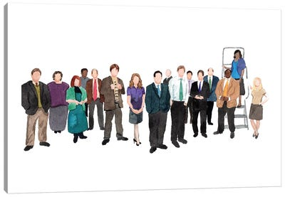 The Office Canvas Art Print