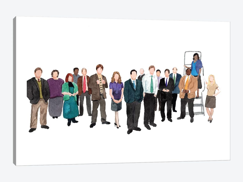 The Office by AJ Filopoulos 1-piece Canvas Print