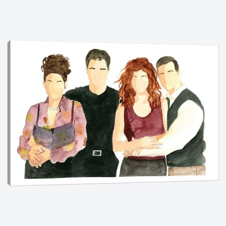 Will & Grace Canvas Print #AJF15} by AJ Filopoulos Canvas Print