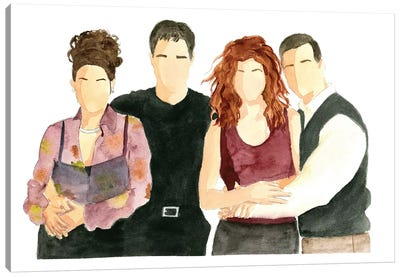 Will & Grace Canvas Art Print