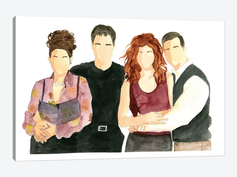 Will & Grace by AJ Filopoulos 1-piece Canvas Art Print