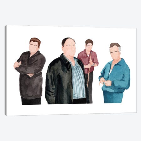 The Sopranos 3-Piece Canvas #AJF17} by AJ Filopoulos Canvas Print
