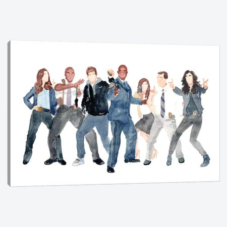 Brooklyn Nine-Nine Canvas Print #AJF2} by AJ Filopoulos Canvas Art