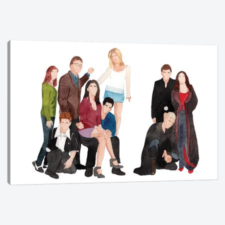 Buffy The Vampire Slayer Canvas Print #AJF3} by AJ Filopoulos Canvas Art