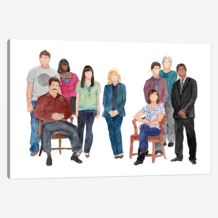 Parks & Rec Canvas Print #AJF7} by AJ Filopoulos Canvas Art Print