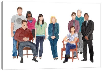 Parks & Rec Canvas Art Print