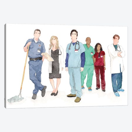 Scrubs Canvas Print #AJF9} by AJ Filopoulos Canvas Art