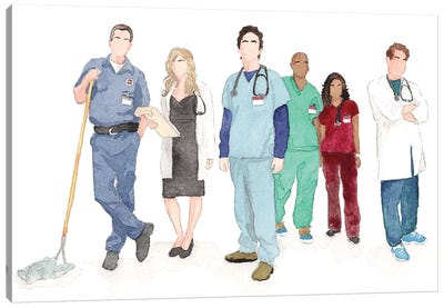 Scrubs Canvas Art Print