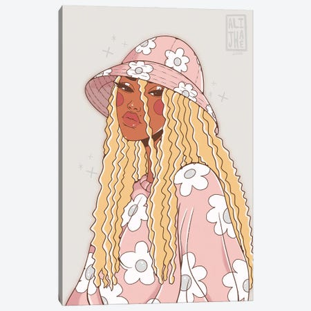 Flower Girl Canvas Print #AJH15} by Alijhae West Canvas Print