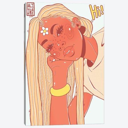 Hi Girl Canvas Print #AJH18} by Alijhae West Canvas Art