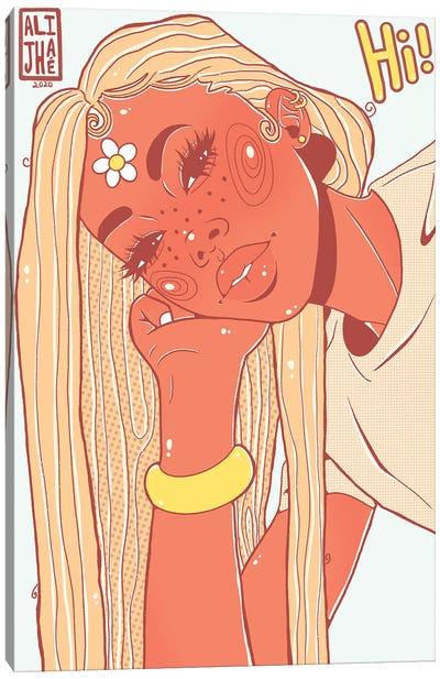 Hi Girl Canvas Art Print