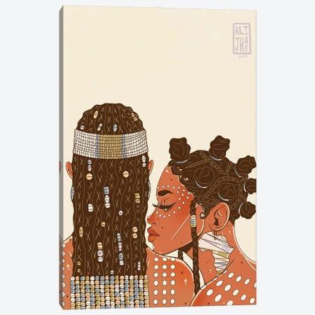 African Beauty Canvas Print #AJH1} by Alijhae West Canvas Wall Art