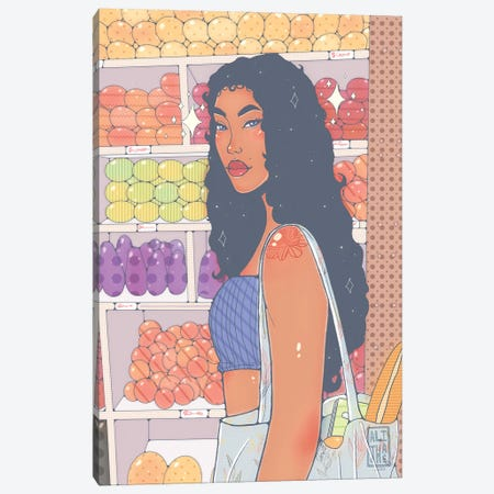 Market Girl Canvas Print #AJH20} by Alijhae West Canvas Art Print