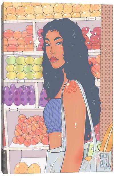 Market Girl Canvas Art Print