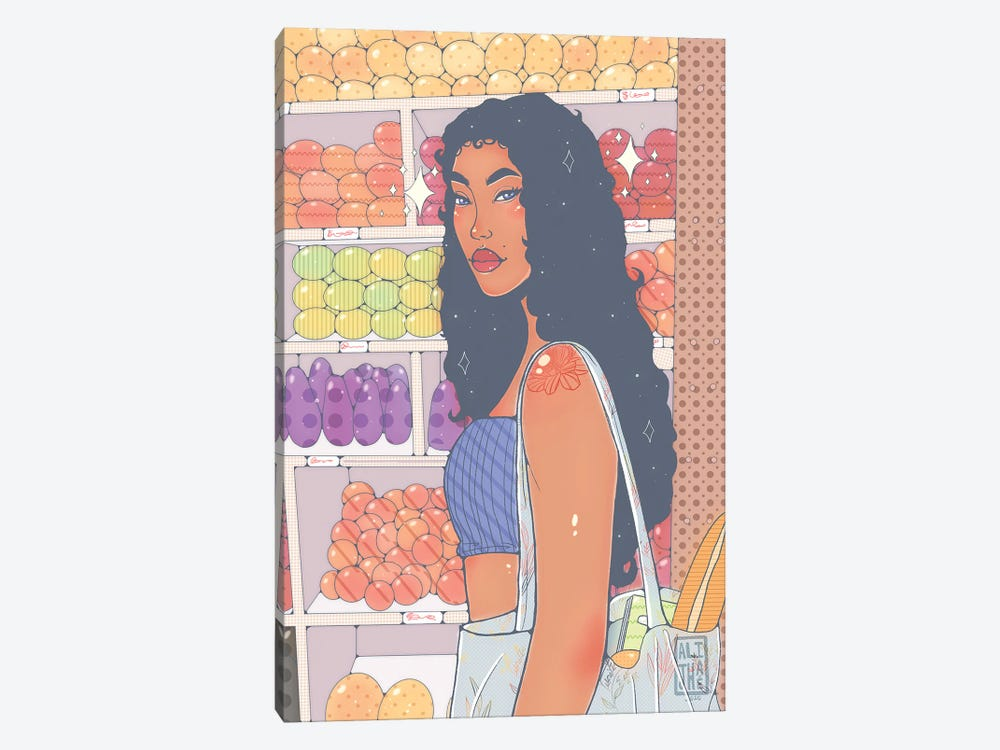 Market Girl by Alijhae West 1-piece Canvas Wall Art