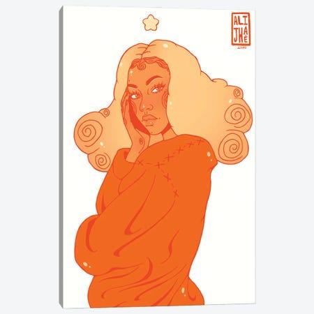 Pumpkin Spice Girl Canvas Print #AJH25} by Alijhae West Canvas Artwork