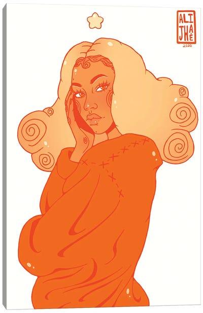 Pumpkin Spice Girl Canvas Art Print