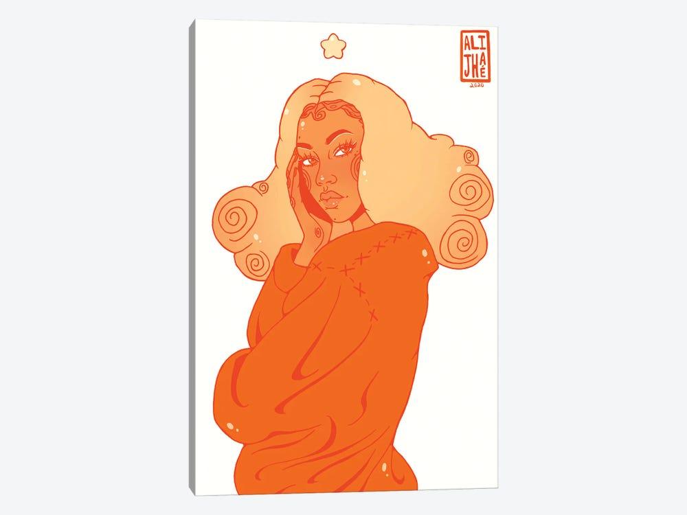 Pumpkin Spice Girl by Alijhae West 1-piece Canvas Print