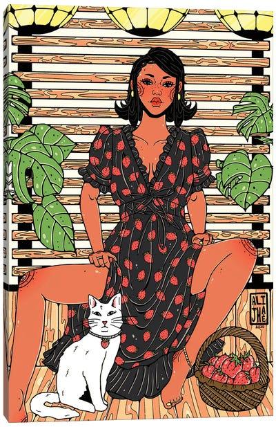 Strawberry Dress Canvas Art Print