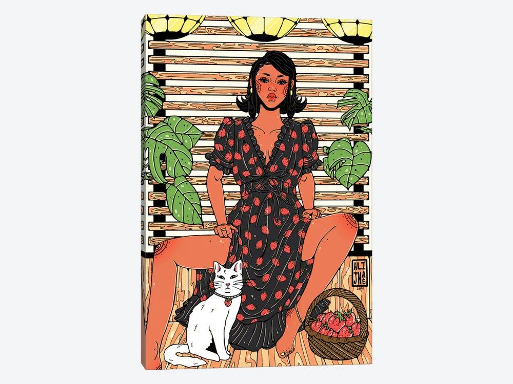 Strawberry Dress by Alijhae West 1-piece Canvas Artwork